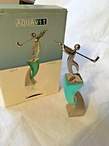 Golf Trophy Statue Award Golfing Golfer AQUAvit Art Decor Horizon Designs NEW