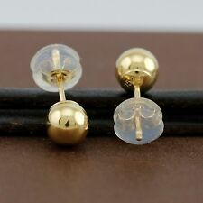 Genuine 18CT Yellow Gold Ball Studs Earrings 5mm - 1 Pair