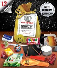 60th Birthday Survival Kit - Fun Novelty Gift