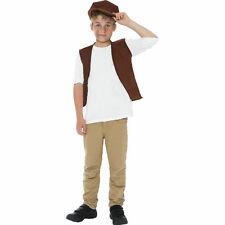 Victorian Urchin Street Boy Fancy Dress Costume Waistcoat and Cap