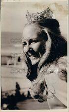 1973 Pretty Miss America Rebecca Ann King of Iowa Crowned Press Photo