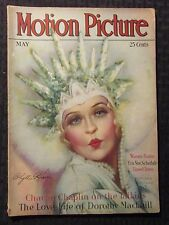 1929 May MOTION PICTURE Magazine VG- 3.5 Charlie Chaplin - Carole Lombard