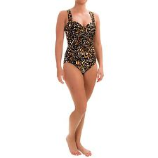 Miraclesuit 12 42 Cats Meow Saxon Swimsuit One Piece Bathing Suit Animal Brown
