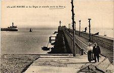 CPA LE HAVRE La Digue et nouvelle entrée du Port (416189)