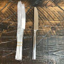 Oneida TORTOLA Glossy Stainless Flatware Dinner Knife Lot of 4