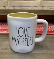 Rae Dunn By Magenta - LL LOVE MY PEEPS - Yellow Ceramic Coffee Mug - Easter