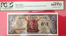 2007F $1 Pirates Disney Dollar,  Graded Gem New 66PPQ, F00050326F