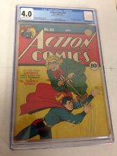 Action Comics 64 CGC 4.0 Off White To White Pages 1st Toyman Golden Age