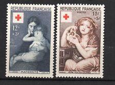France : 1954 Yvert 1006-1007 ( Croix Rouge ) MNH