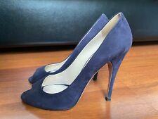 PRADA Shoes Sandals Shoes Hills Blue Open Toe Sz.38 Italy
