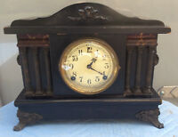 Sessions Mantle Clock;c1890s-early 1900s;Forestville,Conn, Eastlakedesigns; Runs