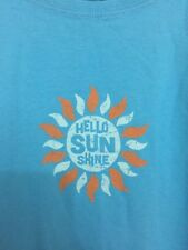 "LIFE IS GOOD WOMENS LIGHT BLUE Cotton t-shirt  XL Short Sleeve ""Hello Sunshine"