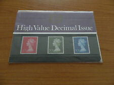 1970 HIGH VALUE DECIMAL ISSUE 10p,20p,50p PRESENTATION PACK (No18) IN MINT COND