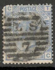 Queen Victoria - SG 157 - 2 1/2d Blue - Plate 22 - Used - Letters C T