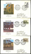 Denmark 1975 Architectural Heritage Year FDC First Day Cover Set #C40938