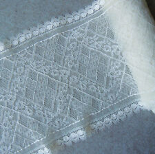 "4.3 Yards 8"" Wide Stretch Floral Lace Ivory For Lingerie Gloves 728"