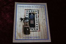 Handmade in The USA Kindred Spirit Craft Pattern Book Doll Wall Hanging  Rug