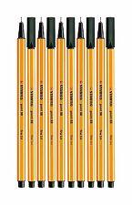 Stabilo Point 88 Fineliner Black Color Marker Drawing Pen 0.4 mm 10 Pens Set