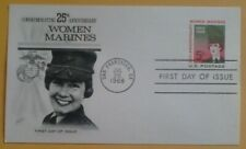 First day of issue, 1968 , Women Marines, 25th Anniversary, postal card