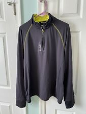 Reebok Mens Athletic Gray Long Sleeve Gym Golf Pullover Jacket Size Medium