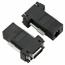 2 X VGA Male to RJ45 FEMALE Network CABLE Cat5e 6 Ethernet Extend Video over Net
