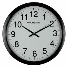 Widdop Large Bold Office Wall Clock Non Ticking Silent Sweep Seconds 40cm W7642B