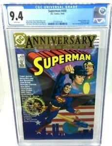 1984 DC COMICS - SUPERMAN 400 ANNIVERSARY ISSUE - CGC 9.4 - HOWARD CHAYKIN COVER