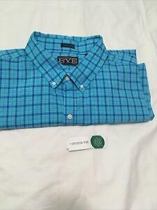 Hawker Rye(Stitch Fix) Men's Long Sleeve Button-down Cotton Shirt w/Pocket. 3XL
