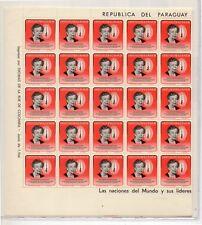 Paraguay Eleanor Roosevelt vslor em pliego de 50 año 1964 (DK-514)