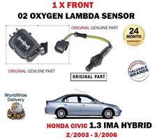 FOR HONDA CIVIC IMA 1.3 HYBRID ES9 LDA1 2003-2006 FRONT 02 OXYGEN LAMBDA SENSOR