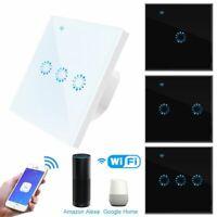 Wifi Smart Light Switch Glass Panel Wall Touch Switching Alexa Google Home APP