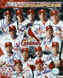 2002 St. Louis Cardinals  Signed Autographed Signed 8x10 Photo Reprint