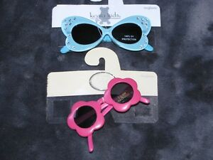 KOLA BABY KIDS INFANT GIRL SUNGLASSES LOT PINK FLOWER BLUE RHINESTONE 0-3-6-9-12