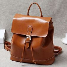 Korean Women's Genuine Real Cow Leather Backpack Travel Bag Fashion Book Bag