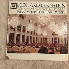 Leonard Bernstein Tchaikovsky Symphony No5 New York Philarmonic COVER ONLY
