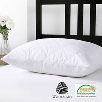 Cotton Cover Outside Australian Wool Filling Quilted Pillow Protector Cover Case