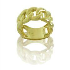 10K Yellow Gold Miami Cuban Link 11.70 MM Solid Men's Ring  BA13