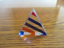 Vasa Velizar Mihich Colorful Acrylic Triangle Pyramid Sculpture Signed 2001