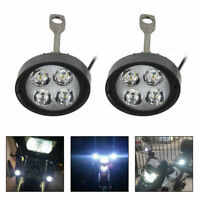 2pcs Motorcycle Motorbike Bike 4 LED Front Fog Spot Lights Headlight Lamp