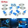 13X Car Interior Blue LED Light Bulb Dome Trunk Door Replacement Lamp Kit