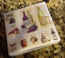 """Ambiente""  Vintage Wine Cocktail Napkins - Free Shipping"
