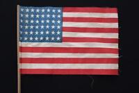 "VINTAGE 1930'S 48 STAR COTTON UNITED STATES FLAG W/POLE 1912-1959 11"" x 7 1/2"""