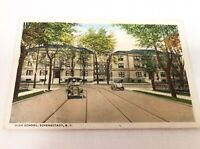 Antique POSTCARD 1920 High School Schenectady, N. Y.