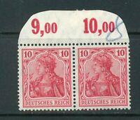 Deutsches Reich Mi-Nr. 86 I b als Paar P OR ** postfrisch