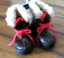 BABY GAP ~ New! NWT Baby Boy's 6 ~ Rugged Sole Faux Leather Fur Winter Boots