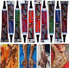 10x Golecha Henna Tuben für Mehndi Tattoo - verschiedenen Farben, kein PPD, 250g