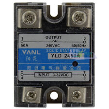 Single Phase SSR Solid State Relay DC-AC DC 3-32V to AC 240V 50A High Quality