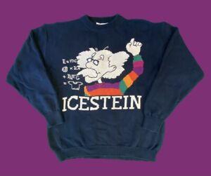 ICEBERG Vintage Icestein Pullover L IV Einstein 90s 90er Italy Designer Strick