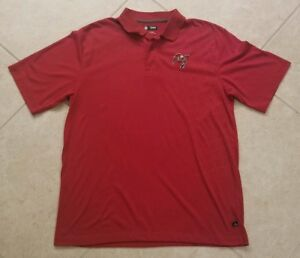 Tampa Bay Buccaneers Bucs NFL Team Apparel Red Polo Golf Shirt Size Large L