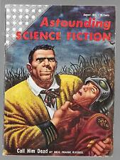 ASTOUNDING SCIENCE FICTION PULP AUGUST 1955 NICE KELLY FREAS COVER ART